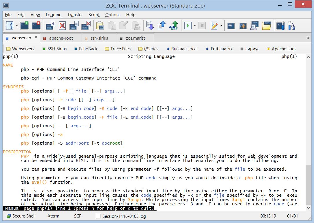 SSH Client for Windows - Screenshots of our SSH Client ZOC