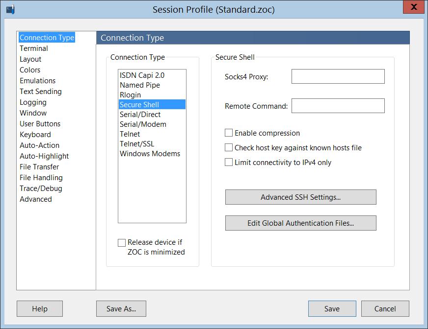 SSH Client for Windows - Screenshots of our SSH Client ZOC Terminal