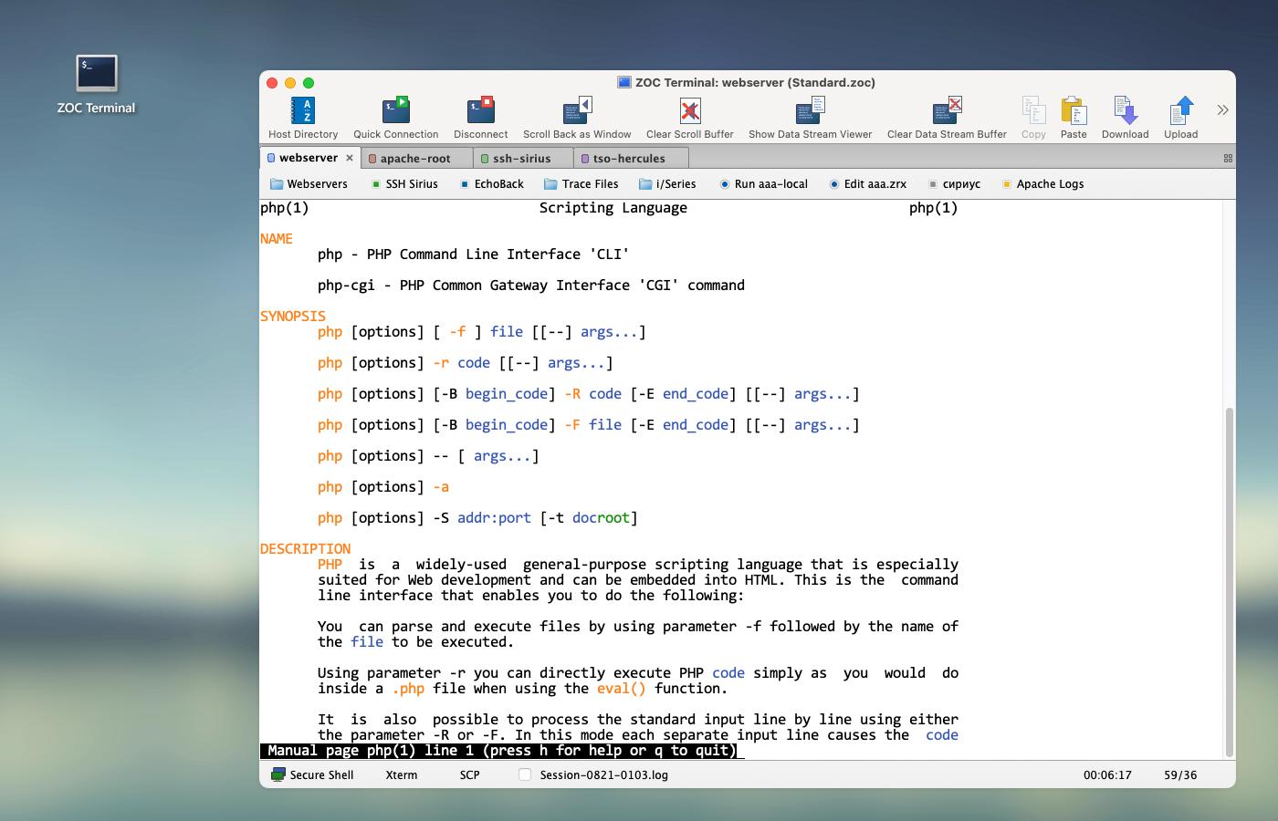 ZOC Terminal 7.23.4 Mac 破解版 Telnet/SSH/SSH2终端软件