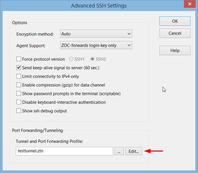 Port Forwarding via SSH - ZOC: A modern SSH client for